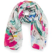 French Connection Women's Kareena Modal Scarf - Floral Reef White