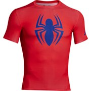 Under Armour Men's Spider-Man Compression Short Sleeved T-Shirt - Red/Blue
