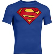 Under Armour Men's Superman Compression Short Sleeved T-Shirt - Blue/Red/Yellow