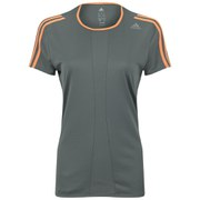 adidas Response Women's Short Sleeve T-Shirt - Vista Grey/Flash Orange