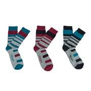 Firetrap Men's Block Mark 3-Pack Socks - Grey