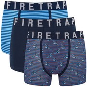 Firetrap Men's Swallow 3-Pack Boxers - Navy/Baby Blue/Rusty Red