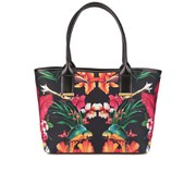 Ted Baker Nia Large Printed Neoprene Shopper Bag - Black