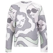 Opening Ceremony Women's ASCII Girls Neoprene Sweatshirt - Palladium Green