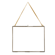 Nkuku Extra Large Kiko Antique Brass Glass Frame - Landscape 29x36cm