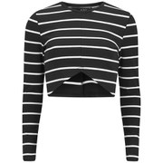 The Fifth Women's Paperback Long Sleeved Top - Black/White