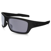 Oakley Turbine Sunglasses - Matte Black/Grey Polarized
