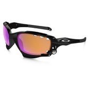 Oakley Racing Jacket Sunglasses - Polished Black/Prizm Trail and Clear Vented