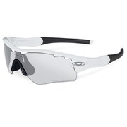 Oakley Radar Sunglasses - Matte White/Clear Black Iridium Photocromatic Vented