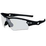 Oakley Radar Sunglasses - Polished White/Clear Black Iridium Photocromatic Vented