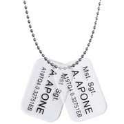 Hollywood Collectibles Aliens Colonial Marine Mst. Sgt. A. Apone Dog Tags
