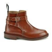 Knutsford by Tricker's Women's Leather Buckle Detail Ankle Boots - Marron
