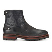 H Shoes by Hudson Men's Mexborough Leather Boots - Black