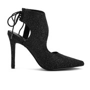 Senso Women's Raven Microdot Stardust Pointed Heels - Pewter