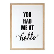 Parlane Had Me At Hello Wall Art - White