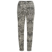 Vero Moda Women's Paisley Print Trousers - Black