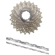 Shimano Ultegra CS-6700 Bicycle Chain and Cassette - 10 Speed Grey 11-25T
