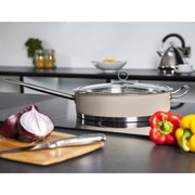 Morphy Richards Accents 28cm Saute Pan with Glass Lid - Barley