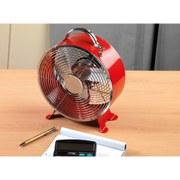 Beldray Retro Fan - Red (9 inch)