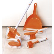 Beldray 5 Piece Deluxe Cleaning Set - Orange/White