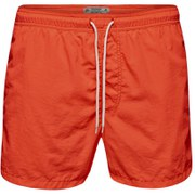Jack & Jones Men's Originals Malibu Swim Shorts - Fiery Coral