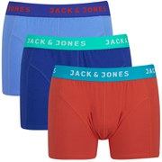 Jack & Jones Men's Simple Regular 3-Pack Boxers - Blue