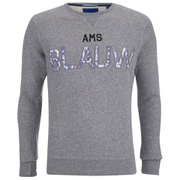 Scotch & Soda Men's Amsterdam Blauw Crew Neck Sweatshirt - Grey