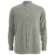 Private White VC Men's Grandad-Collar Shirt - Khaki