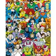 DC Comics Retro Cast - Mini Poster - 40 x 50cm