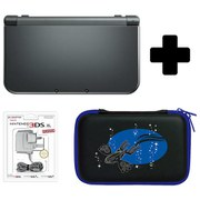 New Nintendo 3DS XL Metallic Black + Pokemon Alpha Sapphire Case