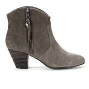 Ash Women's Jess Suede Heeled Ankle Boots - Topo