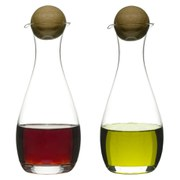 Sagaform Oil/Vinegar Bottles With Oak Stoppers (2-Pack)