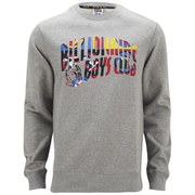 Billionaire Boys Club Men's International Arch Logo Crew Sweatshirt - Heather Grey