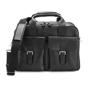 Aspinal of London Men's Harrison Overnight Business Bag - Black
