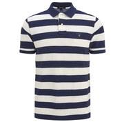 GANT Men's Barstripe Pique Polo Shirt - Cream