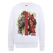 Marvel Avengers Age of Ultron Hulk vs. Hulkbuster Split Sweatshirt - White