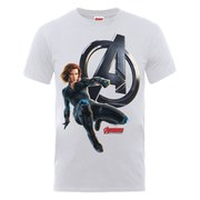 Marvel Avengers Men's Age of Ultron Black Widow T-Shirt - Ash Grey