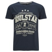 Soul Star Men's Garland T-Shirt - Navy
