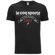 Le Coq Sportif Tour de France 2015 N1 Short Sleeved T-Shirt - Black