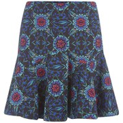 Matthew Williamson Women's Ankone Wave Hem Mini Skirt - Moroccan Blue