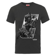 Marvel Guardians of the Galaxy Men's Collegiate Logo T-Shirt - Charcoal