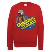 Marvel Guardians of the Galaxy Rocket Logo Sweatshirt - Red