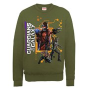 Marvel Guardians of the Galaxy Team Pose Sweatshirt - Olive