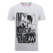 Marvel Guardians of the Galaxy Men's I'm A Legendary Outlaw T-Shirt - Heather Grey