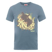 Marvel Guardians of the Galaxy Men's Star-Lord Silhouette T-Shirt - Steel