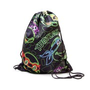 Teenage Mutant Ninja Turtles Retro Neon Faces Drawstring Gymbag