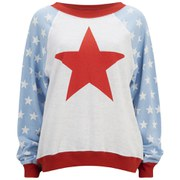Wildfox Women's 'For President' Star Sweatshirt - Multi