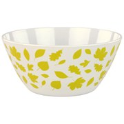 Anorak Woodland Leaves Melamine Salad Bowl - Green/White