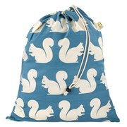 Anorak Kissing Squirrels Laundry Bag - Green/Blue/White