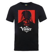 Star Wars Men's Darth Vader Simple Badge T-Shirt - Black